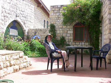 Bracha in Our Courtyard.  Click to Enlarge