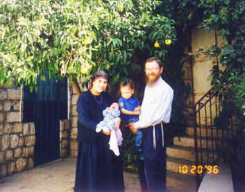 The Zaklad Family at their Home in Tzfat