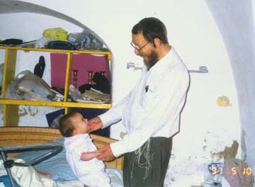 Baby Hannah, with her Father, Chayim